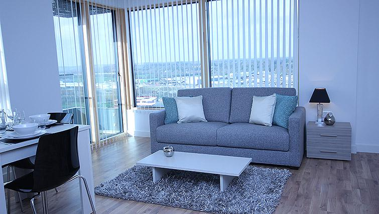 Open-plan living area at City Tower Apartments - Citybase Apartments