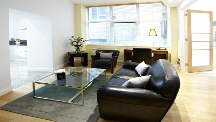 Sofa at 196 Bishopsgate Apartments - Citybase Apartments