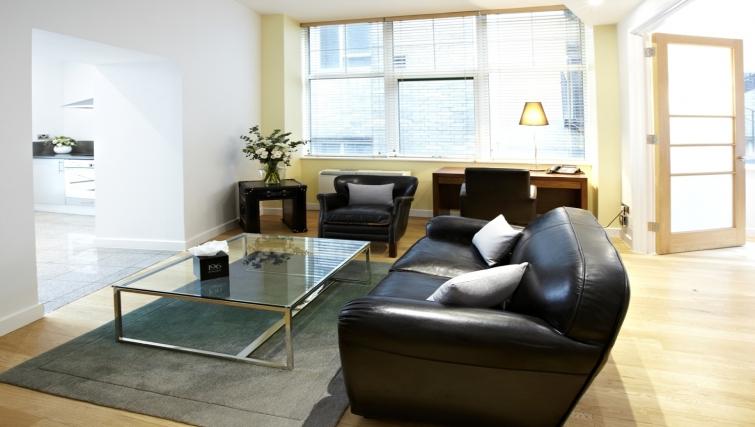 Sofa at 196 Bishopsgate Apartments - Citybase Apartments