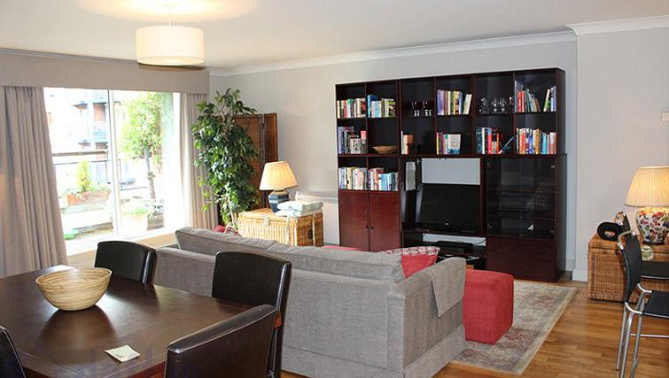 Living area at The Argyle Apartment - Citybase Apartments