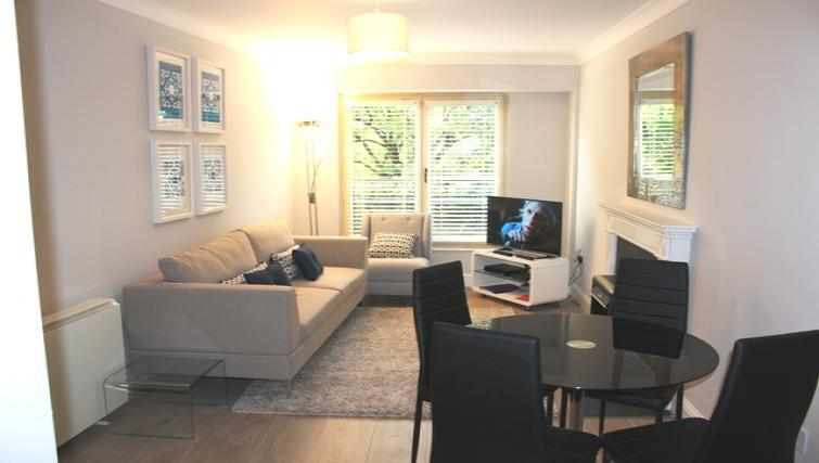 Living area at Herbert Park Apartment - Citybase Apartments