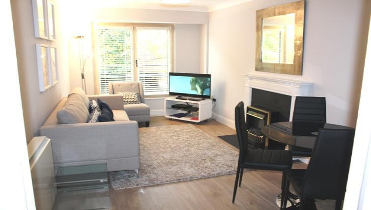 Bright living area at Herbert Park Apartment - Citybase Apartments