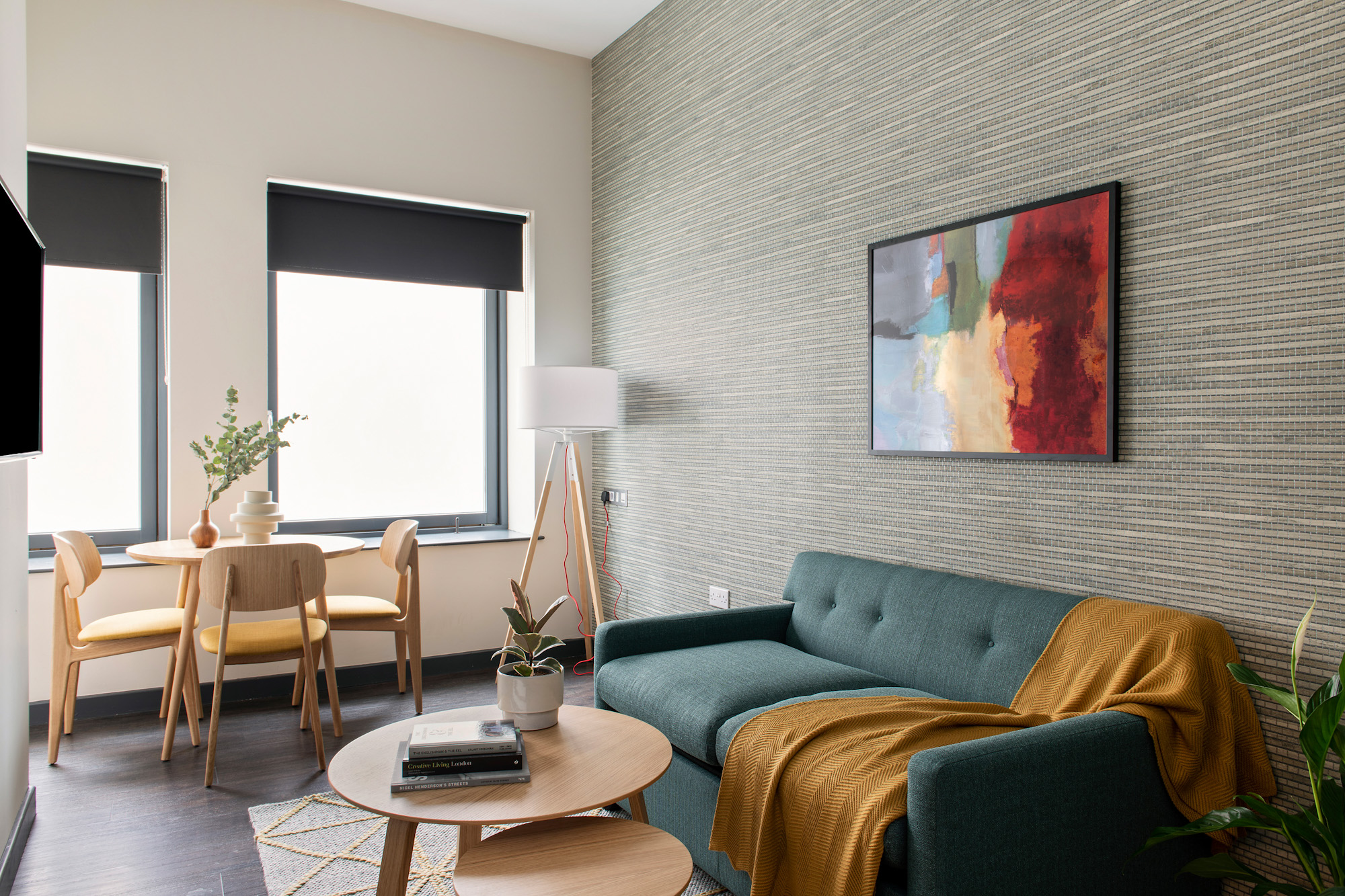 Living area at COVE Cannon Street, Mansion House, London - Citybase Apartments