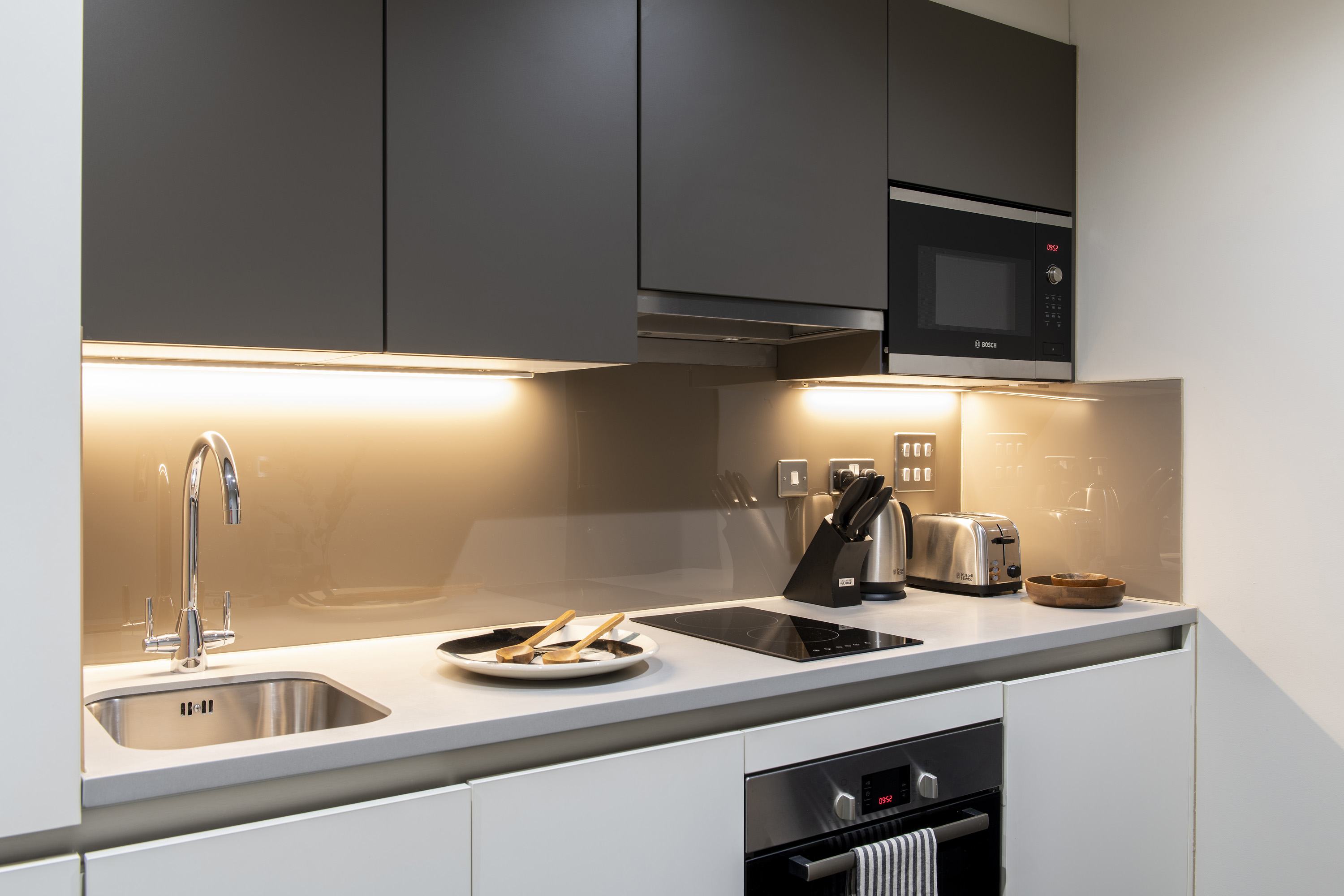 Kitchen at COVE Cannon Street, Mansion House, London - Citybase Apartments