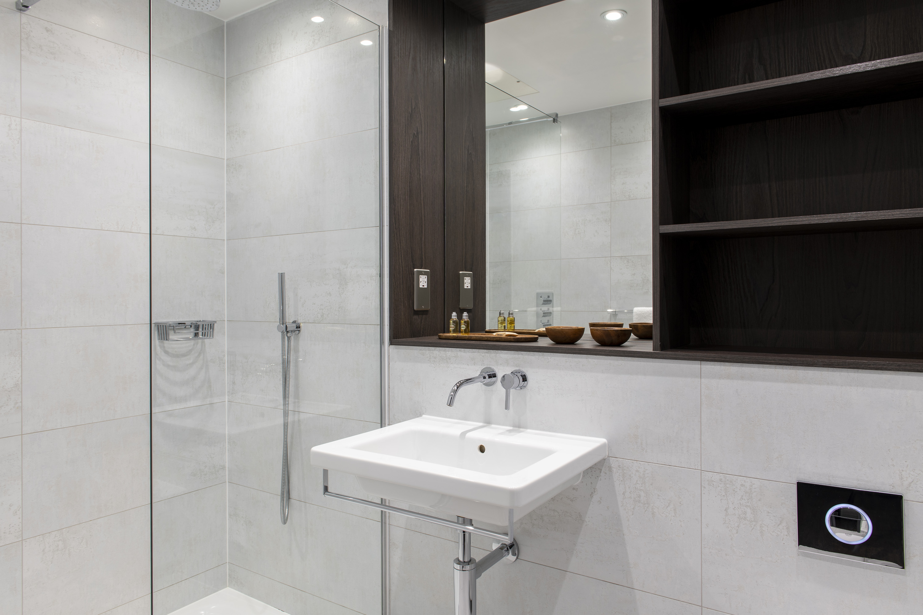 Bathroom at COVE Cannon Street, Mansion House, London - Citybase Apartments