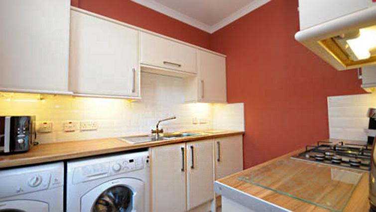 Kitchen space at Dumyat Apartment - Citybase Apartments