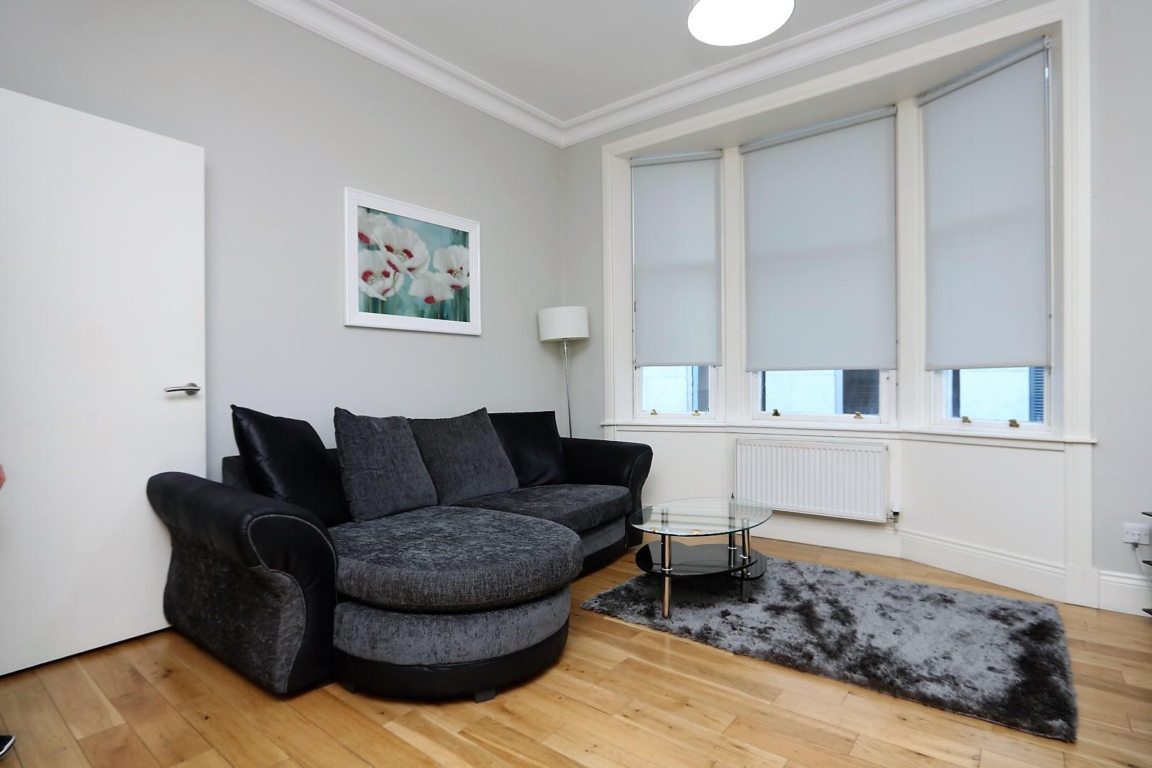 Comfy living area at Saint Vincent Street Apartments, Centre, Glasgow - Citybase Apartments