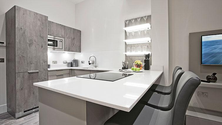 Kitchen at Apple Apartments Devanha Gardens - Citybase Apartments