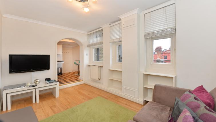 Stylish living room at 43-49 Chiltern Street Apartments - Citybase Apartments