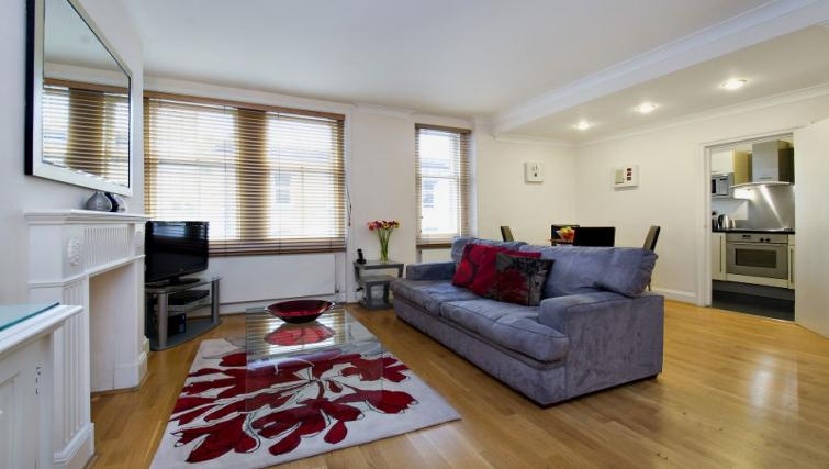 Bright living area at 43-49 Chiltern Street Apartments - Citybase Apartments