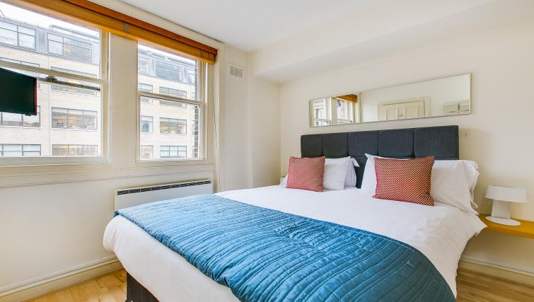 Comfortable bedroom at 43-49 Chiltern Street Apartments - Citybase Apartments