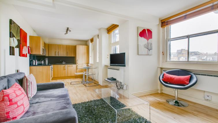 Open plan living space at 43-49 Chiltern Street Apartments - Citybase Apartments