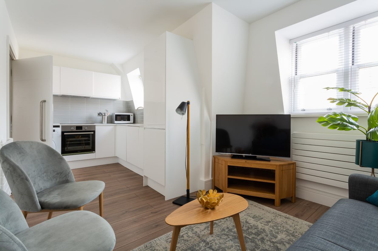 TV at Flying Butler Vincent Square Apartments, Victoria, London - Citybase Apartments