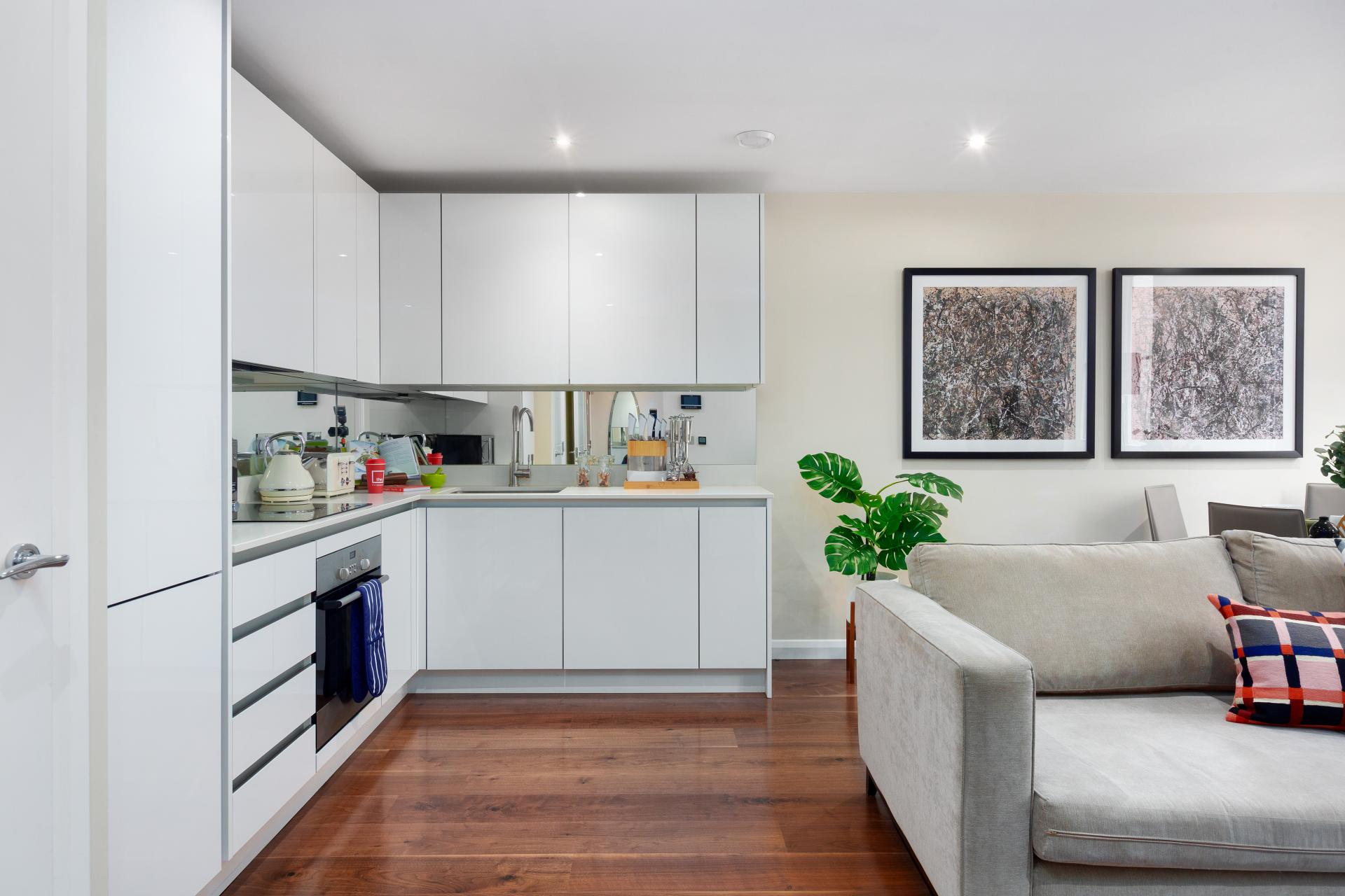 Kitchen at Chancery Lane Apartment, Chancery Lane, London - Citybase Apartments