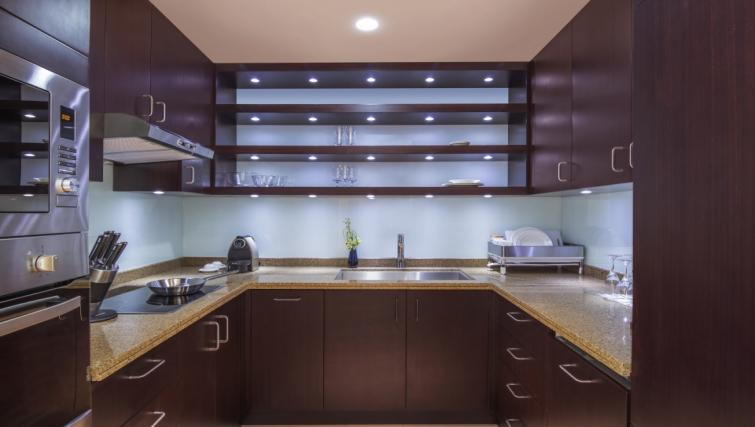 Equipped kitchen at City Centre Rotana Apartments - Citybase Apartments