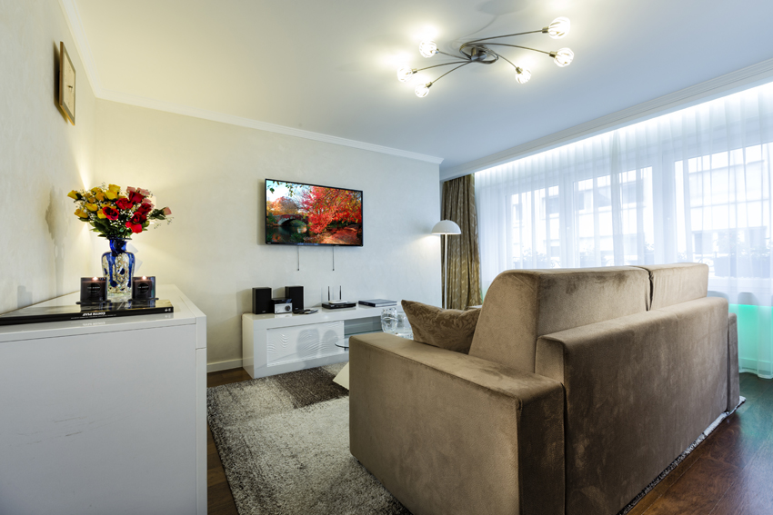 Living area at Villa Vinicia Apartments - Citybase Apartments