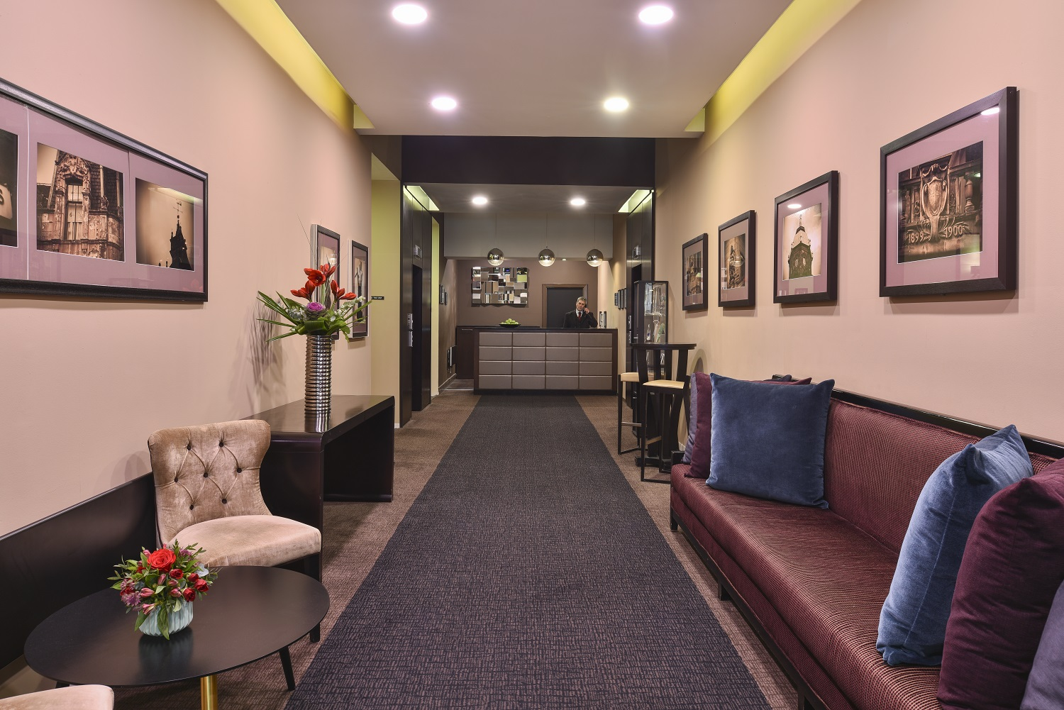 Reception at Fraser Suites Glasgow - Citybase Apartments