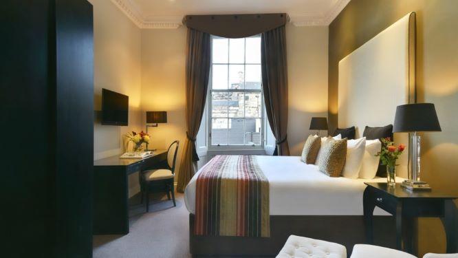 Bedroom at Fraser Suites Edinburgh - Citybase Apartments