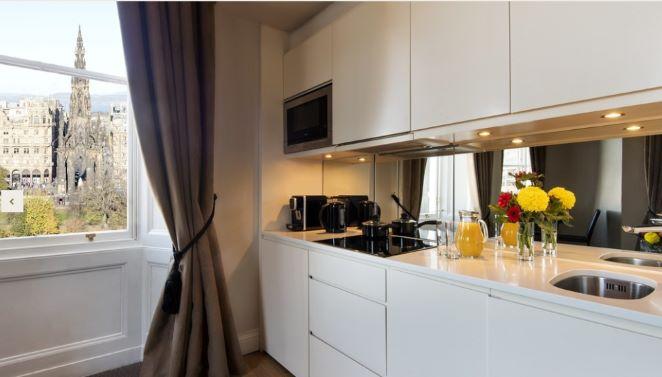 Kitchen at Fraser Suites Edinburgh - Citybase Apartments