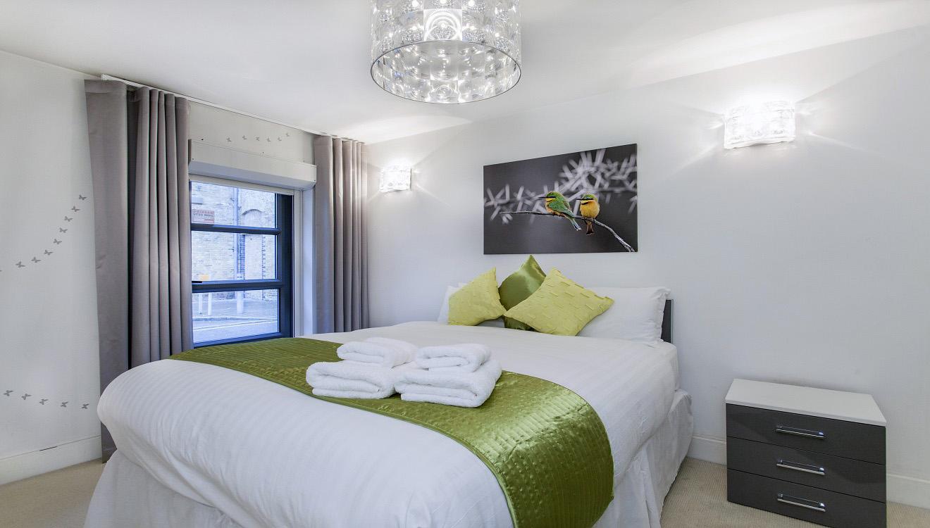 Bedroom at Mandela Camden Apartment - Citybase Apartments