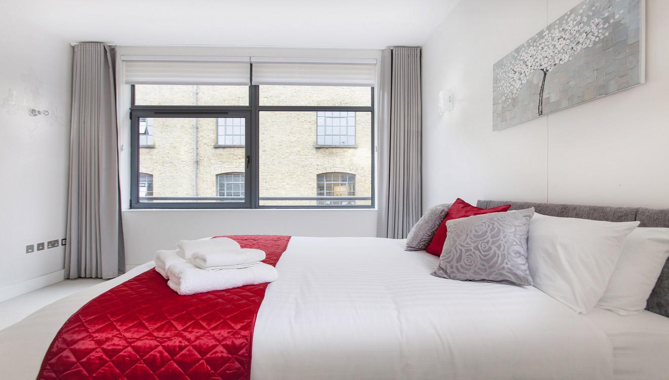 Bright bedroom at Mandela Camden Apartment - Citybase Apartments