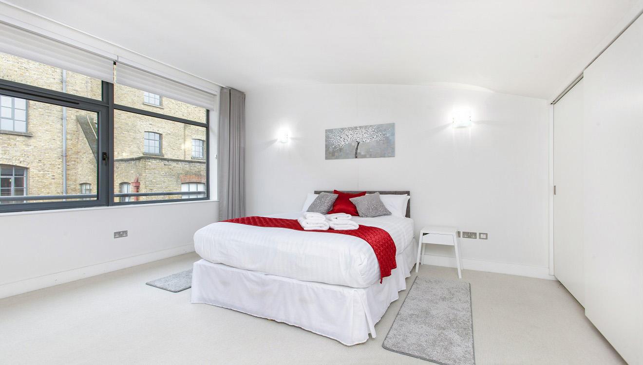 Spacious bedroom at Mandela Camden Apartment - Citybase Apartments