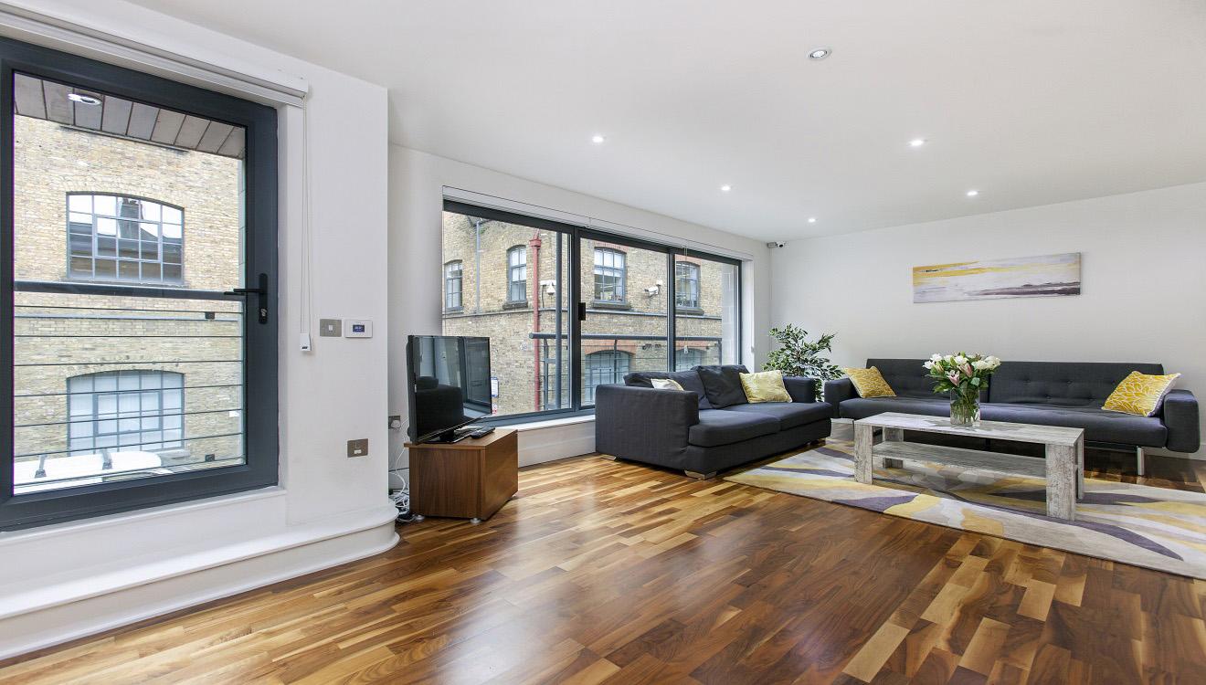 Spacious living area at Mandela Camden Apartment - Citybase Apartments