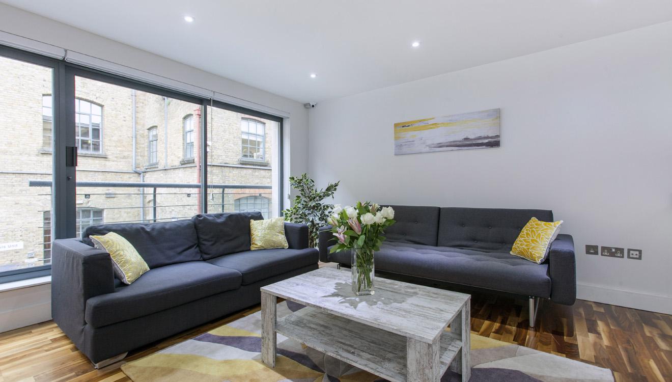 Lounge at Mandela Camden Apartment - Citybase Apartments