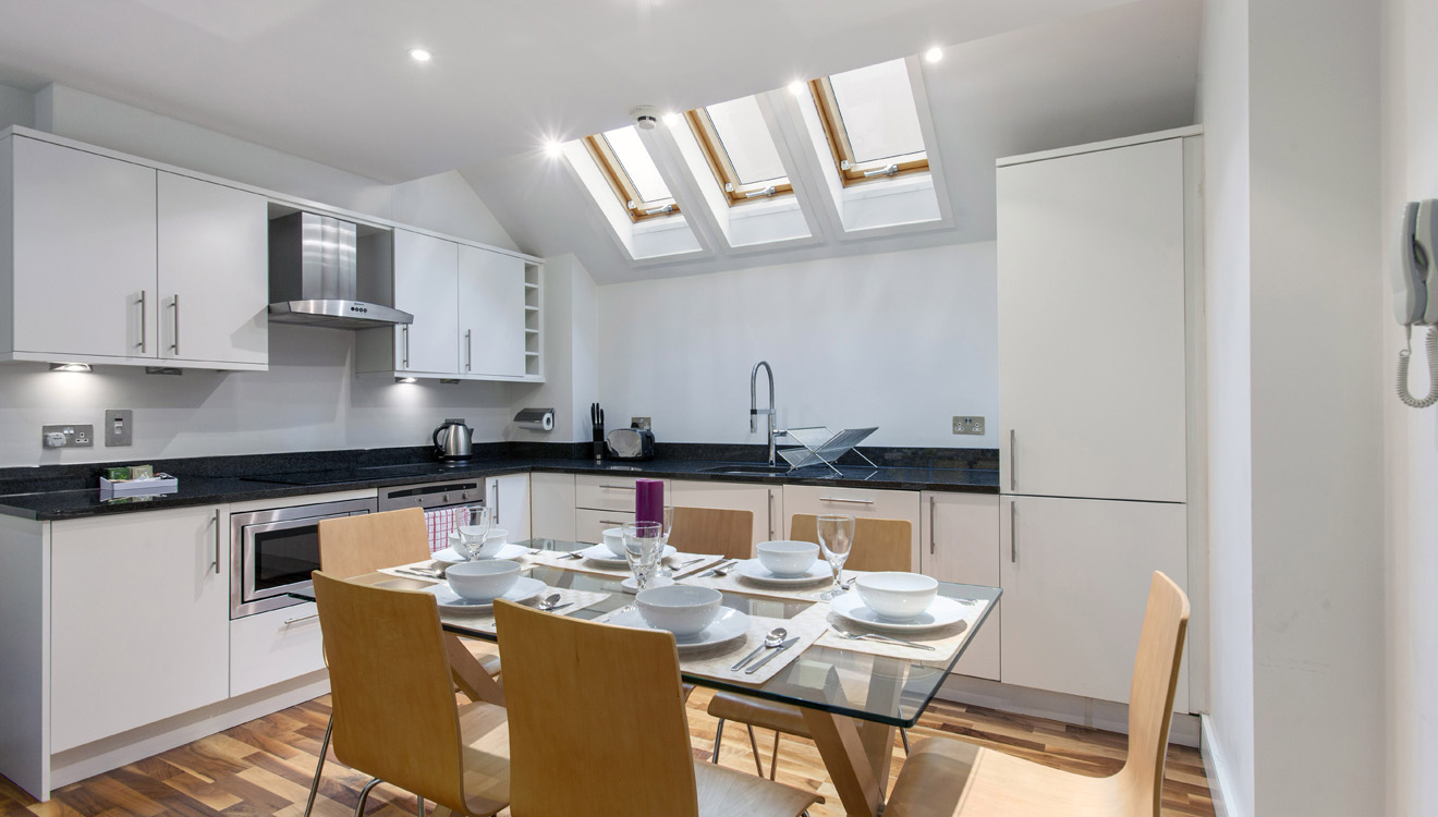 Dining area at Mandela Camden Apartment - Citybase Apartments