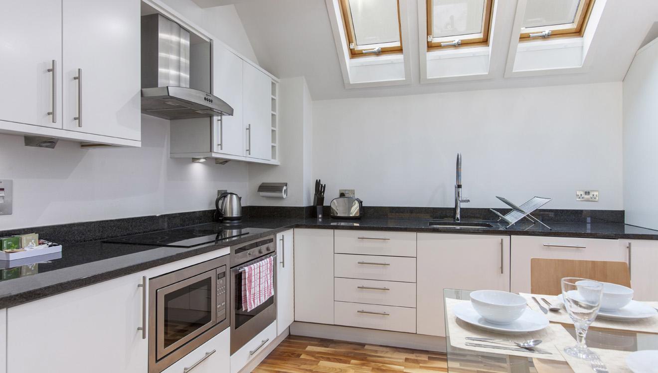 Kitchen at Mandela Camden Apartment - Citybase Apartments