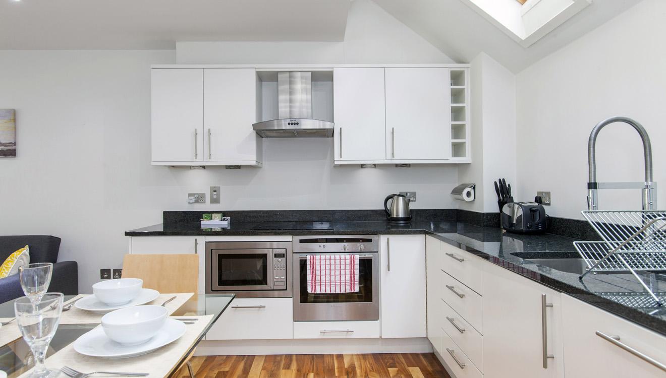 Modern kitchen at Mandela Camden Apartment - Citybase Apartments