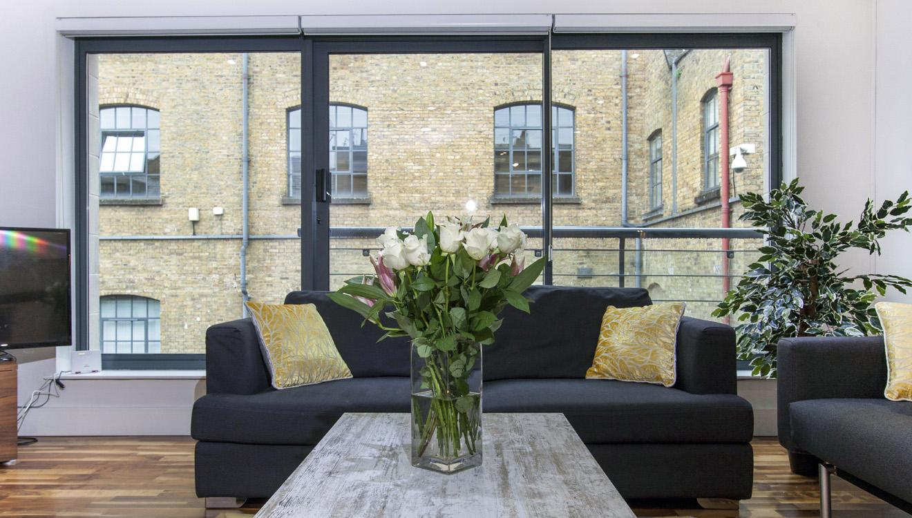 Sofa at Mandela Camden Apartment - Citybase Apartments
