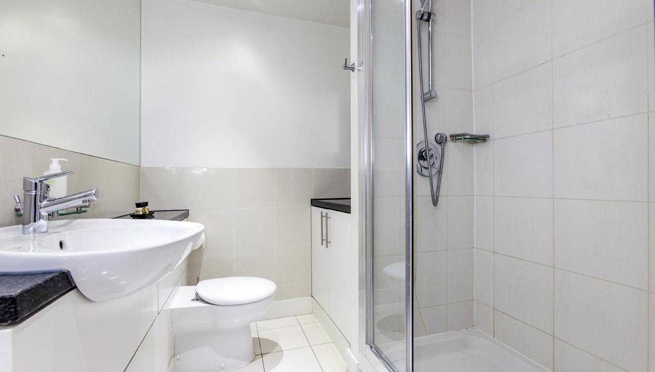Shower at Mandela Camden Apartment - Citybase Apartments