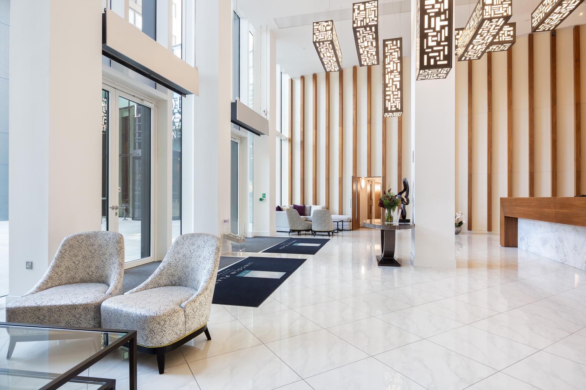 Reception at Duckman Tower Lincoln Plaza Apartments - Citybase Apartments