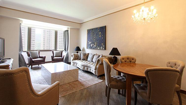 Open plan living space at Hong Kong Parkview Apartments - Citybase Apartments