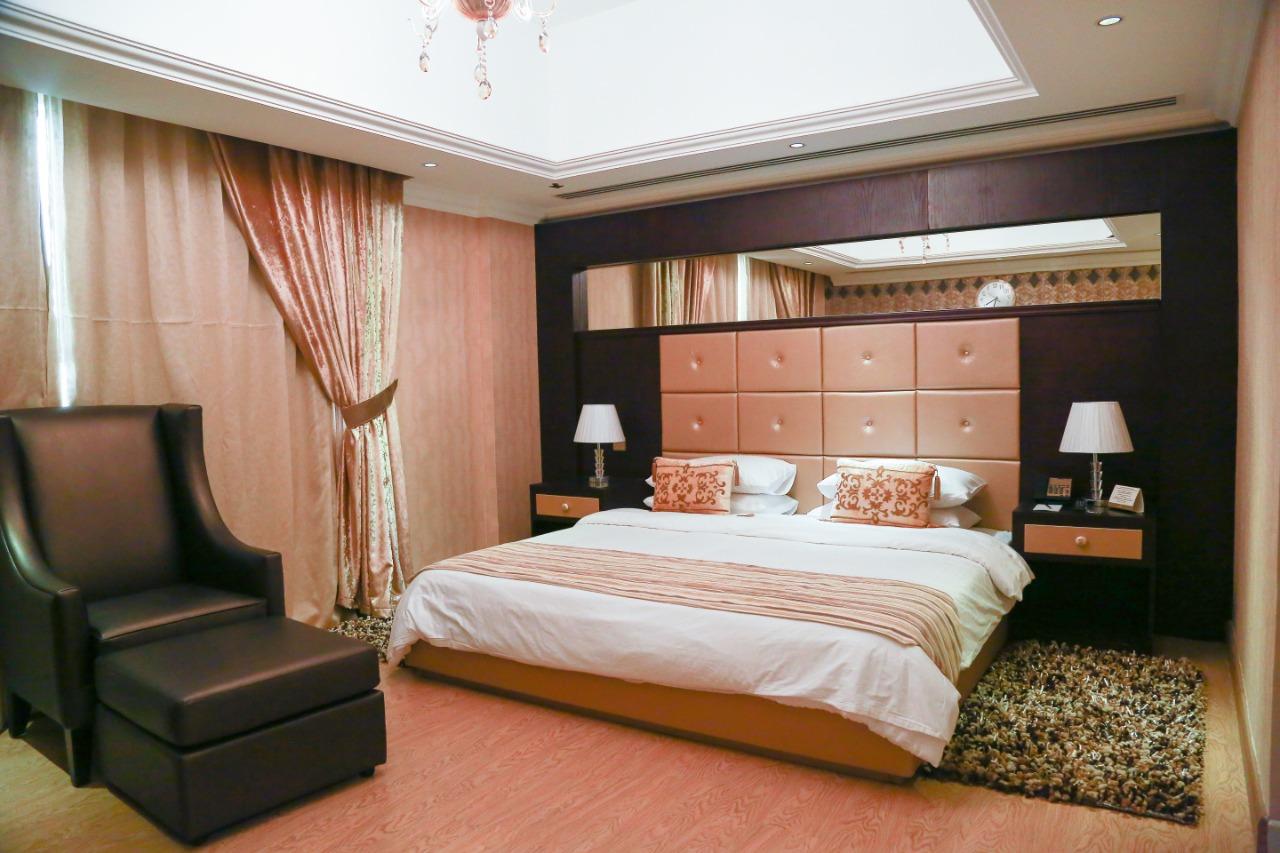 Master bedroom at Ivory Grand Hotel Apartments - Citybase Apartments
