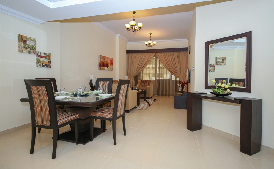 Dining area at Ivory Grand Hotel Apartments - Citybase Apartments