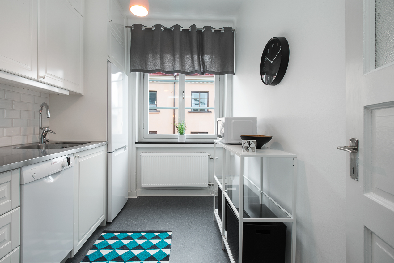 Kitchen facilities at Renstiernas Gata Apartments - Citybase Apartments