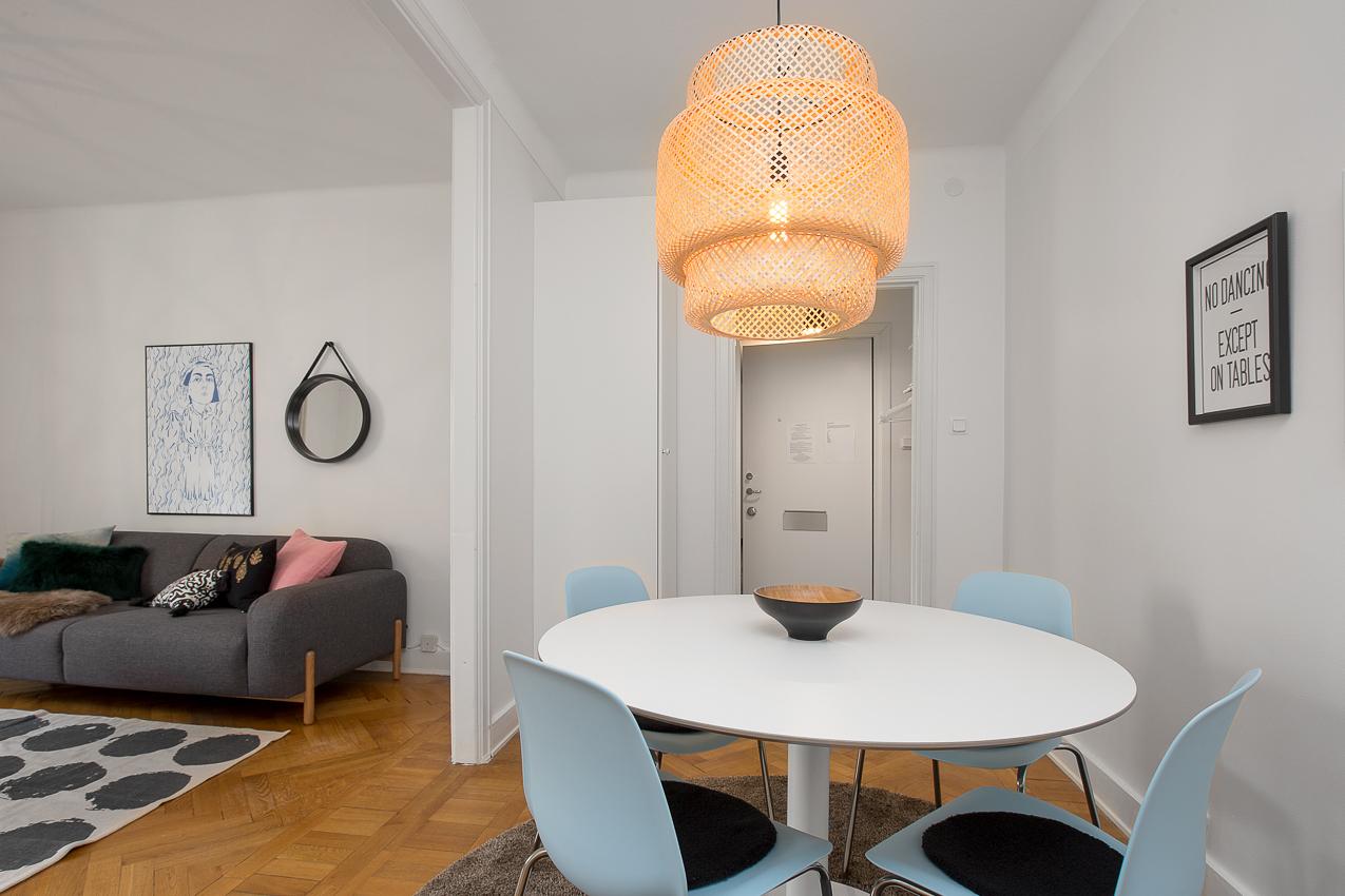 Dining space at Renstiernas Gata Apartments, Södermalm, Stockholm - Citybase Apartments