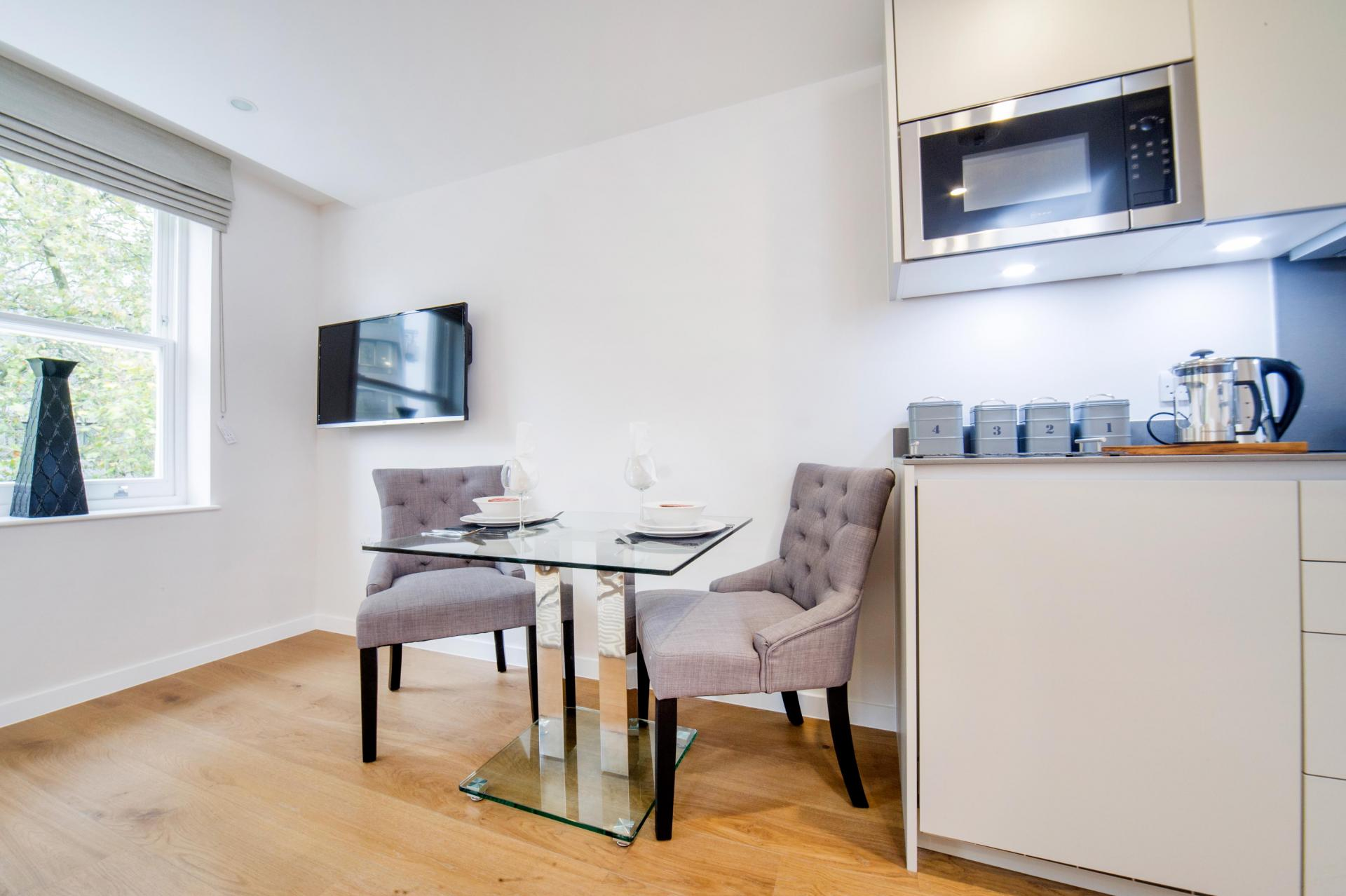 Chairs at LAK Serviced Apartments, Gloucester Road, London - Citybase Apartments