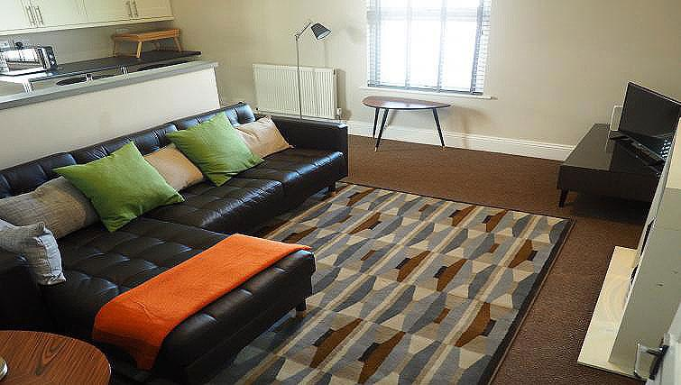 Bright living area at Raby Street Apartment - Citybase Apartments