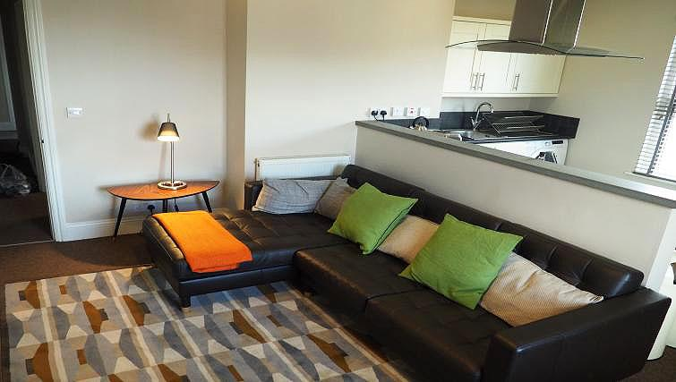 Living area at Raby Street Apartment - Citybase Apartments