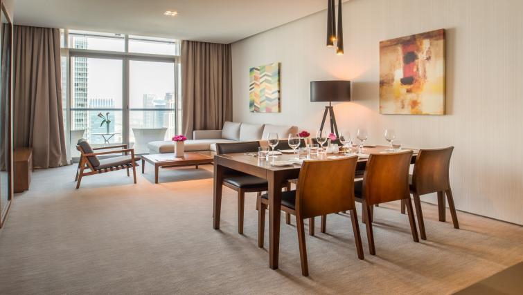 Dining table at InterContinental Dubai Marina - Citybase Apartments