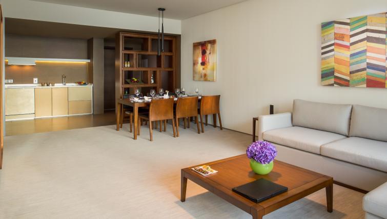 Living/dining area at InterContinental Dubai Marina - Citybase Apartments
