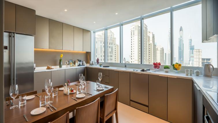 Ktichen/dining area at InterContinental Dubai Marina - Citybase Apartments