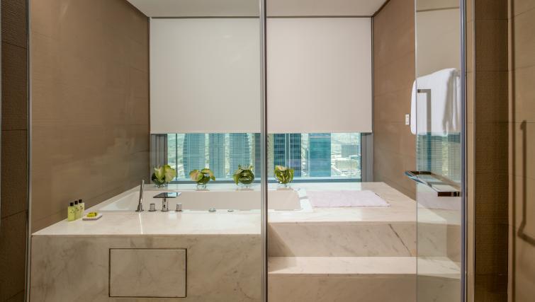 Luxury bathroom at InterContinental Dubai Marina - Citybase Apartments
