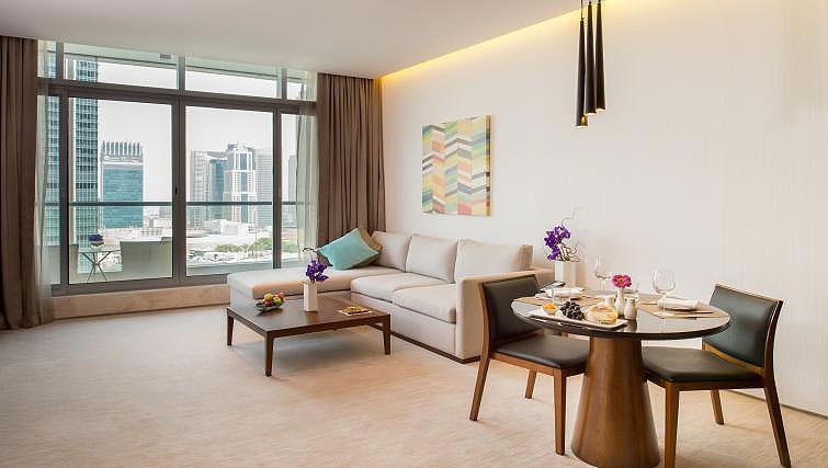 Living area at InterContinental Dubai Marina - Citybase Apartments