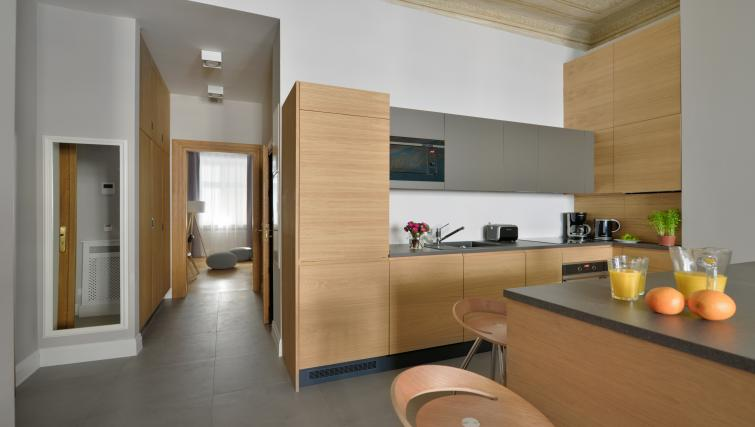 Equipped kitchen at Stradonia Serviced Apartments - Citybase Apartments