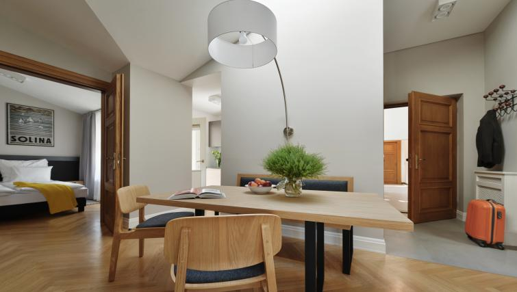 Dining area at Stradonia Serviced Apartments - Citybase Apartments