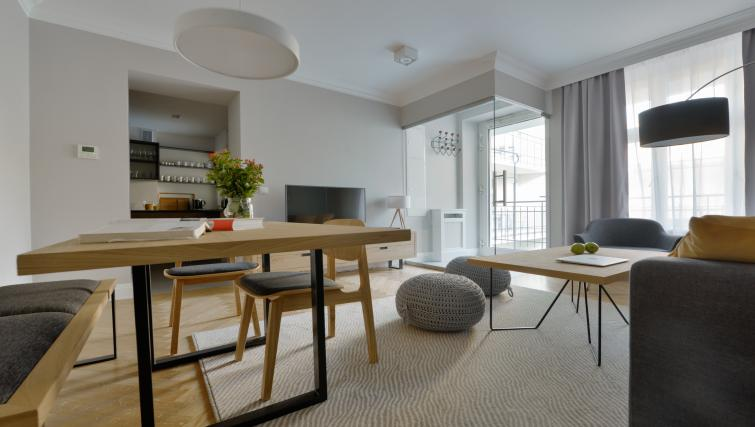 Modern living area at Stradonia Serviced Apartments - Citybase Apartments